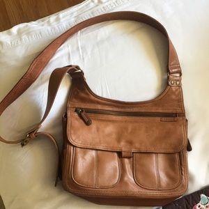 Soft leather beautiful fossil purse bag
